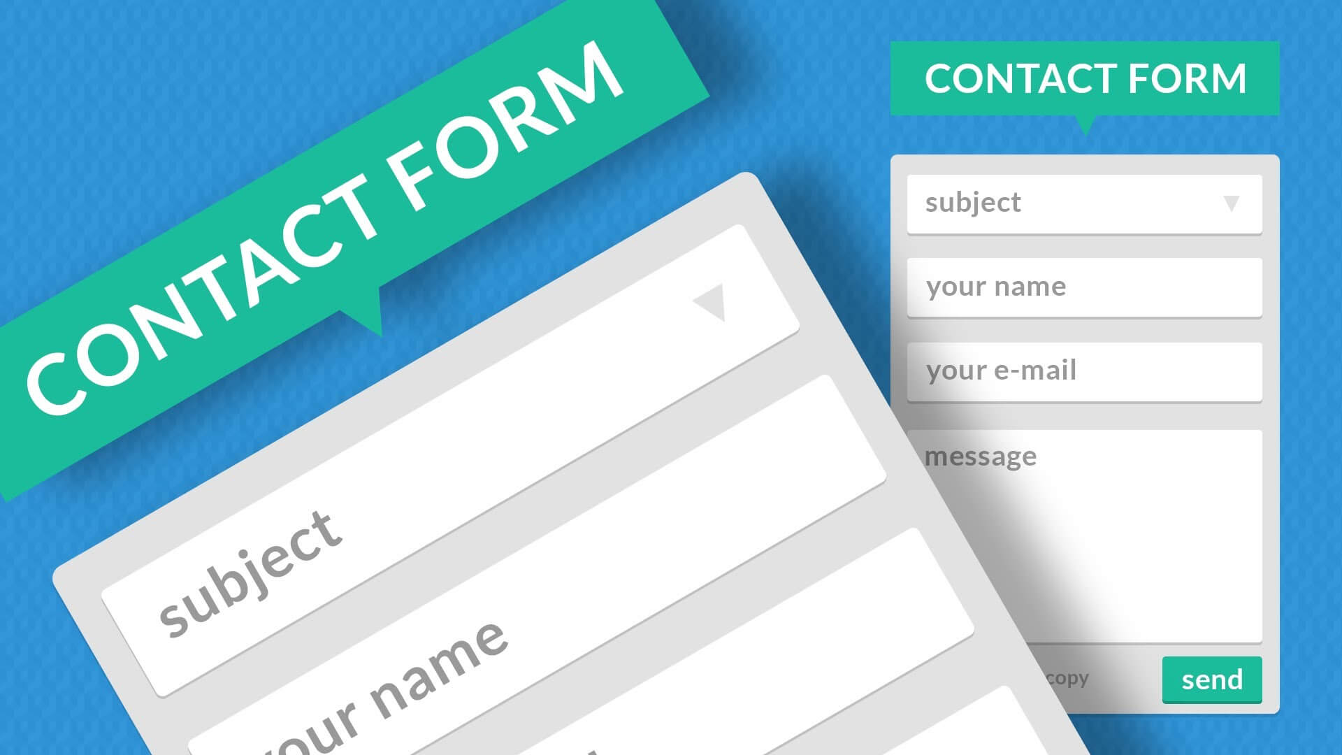 Contact Forms and Landing Pages Animation